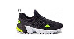 Tênis New Balance 574 - Preto e Verde Limão