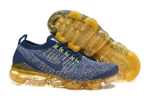 Tênis Nike Air Max Vapormax 3  - Azul e Amarelo