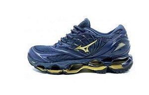 Tênis Mizuno Wave Prophecy 8 - Azul e Dourado