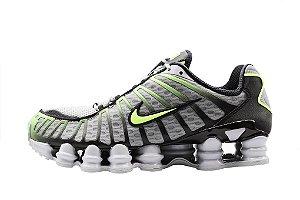 Tênis Nike Shox Tl 12 molas Neymar Jnr - Cinza e Verde