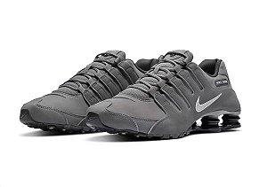 Tênis Nike Shox NZ - Cinza e Branco