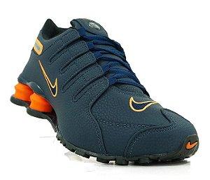 Tênis Nike Shox NZ - Azul e Laranja