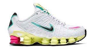 Tênis Nike Shox Tl 12 molas Neymar Jnr - Branco e Verde