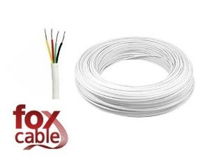 Cabo de Alarme - Fox Cable - 100mt 4x0.50mm - nº do produto 0048