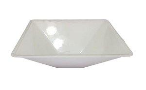 Cuba Plástica Quadrada de Sobrepor (apoio) Branca Para Banheiro