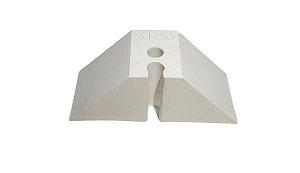 Calço trapézio T40 branco - 2 Furos - ATCO