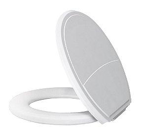 Assento Sanitário Almofadado Slim Branco