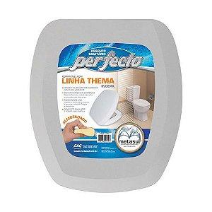 Assento Sanitário Almofadado Thema Incepa Cinza Claro - Metasul