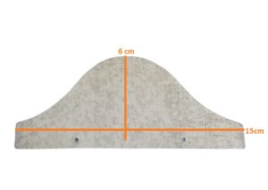 Passarinheira telha Onda alta Metal - 50 peças