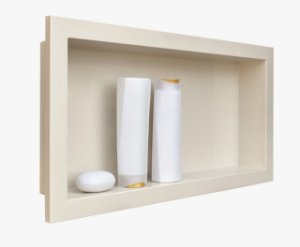 Nicho de banheiro plástico para Embutir 30x60cm - Bege