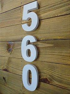 Número residencial 3D Branco