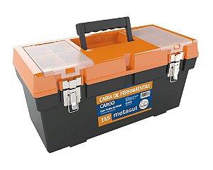 "Caixa De Ferramentas Cargo Cinza 19,5"" Fecho de Metal"