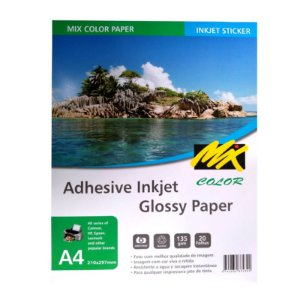 Papel Fotográfico Adesivo 135g A4 20fls - Mix Color - 10 Pacotes