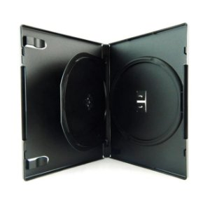 Box para DVD Duplo Preto