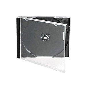 Caixa para CD / DVD - Padrão Fundo Preto em Acrílico - Para 1 Disco