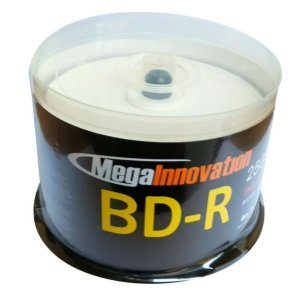 Midia Blu-Ray BD-R 25GB/135min 6x - Mega Innovation - 50 Unidades