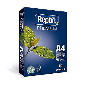 Papel Sulfite Report Premium A4 75 g/m² 210X297mm Branco - Pacote 500fls