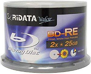 Blu-ray Ridata Bd-re 25gb 1-2x Printable 50 Peças