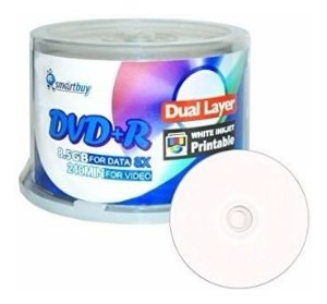 Mídia DVD+R DL 8.5GB 240min 52x 8x Smartbuy - 50 Unidades