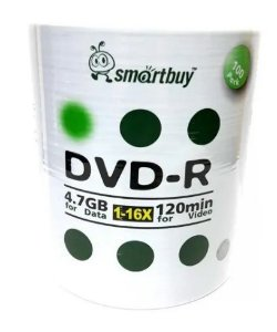 Midia  Dvd-r Smartbuy C/ logo Prata 1-16x 4.7 gb 120min 100 Uni .