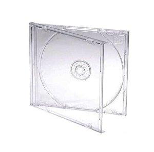 Caixa para CD / DVD - Padrão Transparente - Para 1 Disco - Cx c/ 50 peças