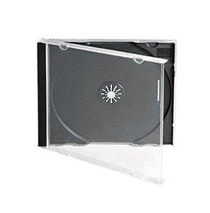 Caixa para CD / DVD - Padrão Fundo Preto em Acrílico – Para 1 Disco - Cx c/ 50 Und.