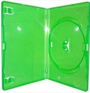 Caixa para DVD Padrão Transparente e Colorida Para 1 Disco - Cx c/ 100 Unidades