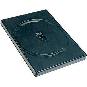 Capa para DVD em Plástico Preta - Cx c/ 100 Unidades