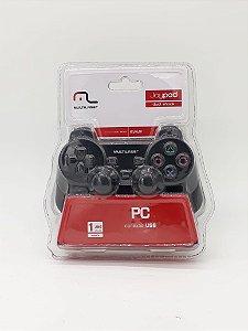Controle Joystick Dual Shock Pc - Multilaser -  Js030
