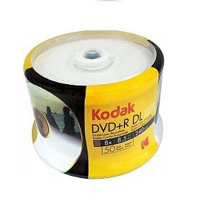 DVD+R 8.5 8X Dual Layer - Kodak - 50 Und.