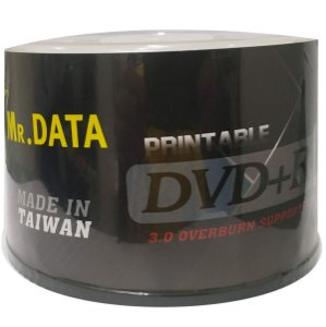 DVD-R Dual Layer 8.5GB/240min 8x - Mr. Data - Printable - 50 Unidades