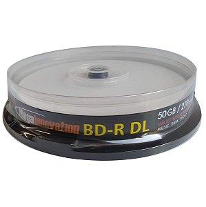 Midia Blu-Ray BD-R 50GB/270min 6x - Mega Innovation - 10 Unidades
