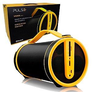 Caixa de Som Pulse Bazooka Bluetooth Preto e Amarelo - sp222
