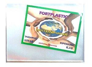 Saquinho Plastico Envelope para CD - DVD - 13cmx18cmx0,13 - Fortpalstic - 1K