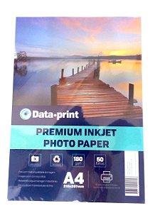 Papel Fotografico Data Print 180gr A4 210x297 com 50fls
