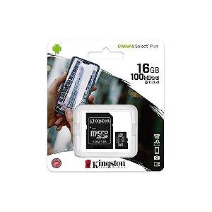 Cartão de Memória Kingston 16GB 100 MB/s
