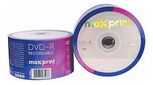 DVD-R maxprint com logo pct 50 Unidades