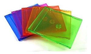 Box para CD / DVD Slim Colorida Para 1 Disco - 1 Und