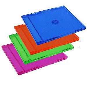 Caixa para CD / DVD - Padrão Colorida Para 1 Disco - 1 Und