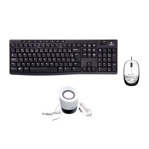 Kit 3 em 1 Teclado + Mouse M105 + Caixinha de som