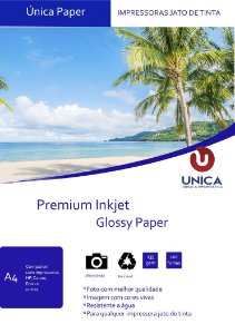 Papel Fotográfico Premium Glossy 135g 100fls