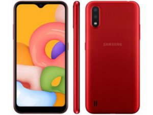 Smartphone Samsung Galaxy A01 32GB Vermelho