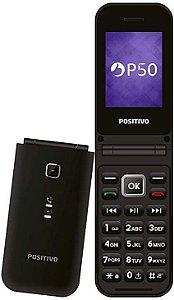 """Celular Positivo P50 Tela 2.4"""" Câmera VGA 2G Preto"""