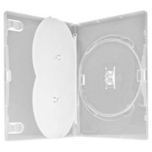 Box para DVD Triplo Transparente - Amaray