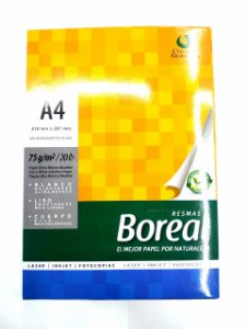 Papel Sulfite A4 210 X 297mm 75 g/m² Boreal