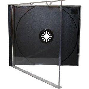 Box para CD / DVD Padrão Fundo Preto