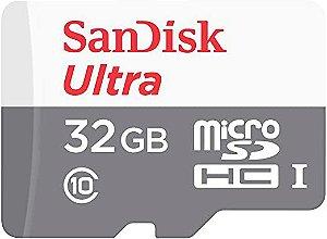 Cartão de memória 32GB microSDHC UHS-I com adaptador Sandisk Ultra