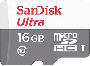 Cartão de Memória 16gb com adaptador SD sandisk ultra