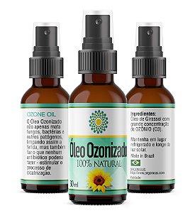 Óleo Ozonizado de Girassol 30ml - 100% Natural - Ozônio