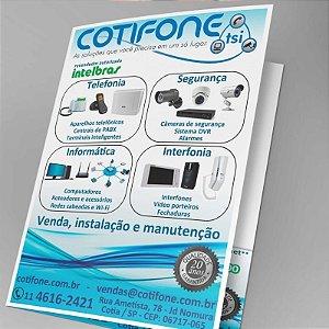 Panfletos - 14x20cm - Couchê - 90g - Com Dobra